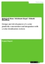 Title: Design and development of a solar parabolic concentrator and integration with a solar desalination system