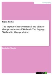 Title: The impact of environmental and climate change on Seasonal Wetlands. The Bugingo Wetland in Mayuge district
