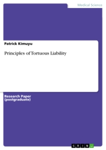 Title: Principles of Tortuous Liability