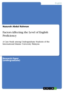 Titel: Factors Affecting the Level of English Proficiency