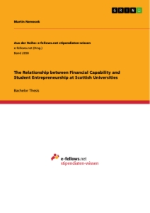 Title: The Relationship between Financial Capability and Student Entrepreneurship at Scottish Universities