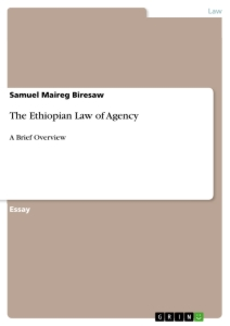 Title: The Ethiopian Law of Agency