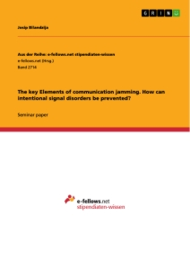 Title: The key Elements of communication jamming. How can intentional signal disorders be prevented?