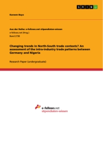 Title: Changing trends in North-South trade contexts? An assessment of the intra-industry trade patterns between Germany and Nigeria