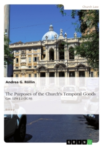 Title: The Purposes of the Church's Temporal Goods (Can. 1254 § 2 CIC/83)