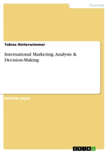 Title: International Marketing. Analysis & Decision-Making