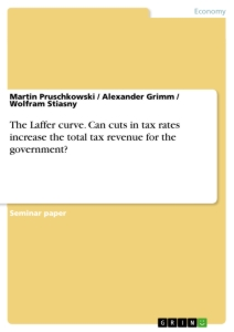 Title: The Laffer curve. Can cuts in tax rates increase the total tax revenue for the government?
