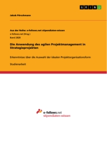 Titel: Die Anwendung des agilen Projektmanagement in Strategieprojekten