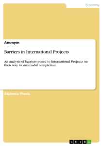 Title: Barriers in International Projects