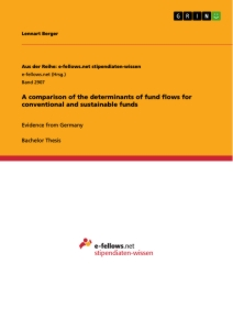 Title: A comparison of the determinants of fund flows for conventional and sustainable funds