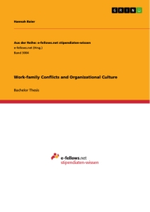 Titel: Work-family Conflicts and Organizational Culture