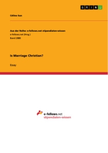 Titel: Is Marriage Christian?