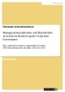 Titel: Managementreaktionen auf Shareholder Activism im Kontext guter Corporate Governance