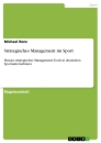 Title: Strategisches Management im Sport