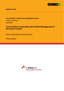 Title: Cross-Cultural Leadership and Conflict Management in the Asian Context
