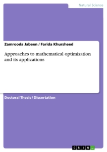 Title: Approaches to mathematical optimization and its applications