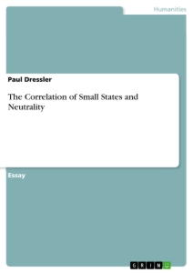 Title: The Correlation of Small States and Neutrality