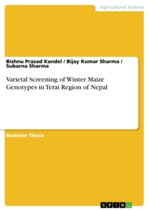 Title: Varietal Screening of Winter Maize Genotypes in Terai Region of Nepal