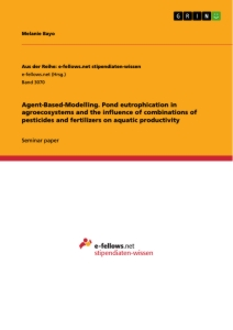 Title: Agend-Based-Modelling. Pond eutrophication in agroecosystems and the influence of combinations of pesticides and fertilizers on aquatic productivity