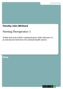 Titel: Nursing Therapeutics 1