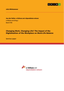 Title: Changing Work, Changing Life? The Impact of the Digitalization of the Workplace on Work-Life Balance