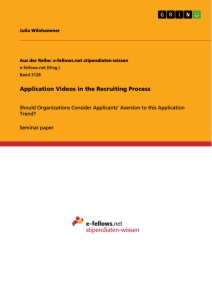Title: Application Videos in the Recruiting Process