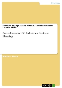 Title: Consultants for CC Industries. Business Planning