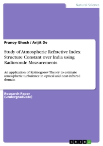 Title: Study of Atmospheric Refractive Index Structure Constant over India using Radiosonde Measurements