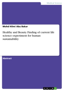 Title: Healthy and Beauty. Finding of current life science experiment for human sustainability