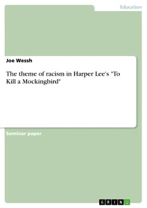 "Title: The theme of racism in Harper Lee's ""To Kill a Mockingbird"""