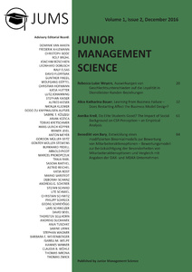 Titel: Junior Management Science, Volume 1, Issue 2, December 2016
