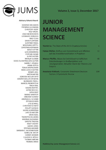 Titel: Junior Management Science, Volume 2, Issue 3, December 2017