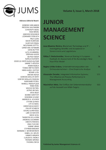 Titel: Junior Management Science, Volume 3, Issue 1, March 2018