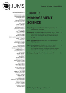Titel: Junior Management Science, Volume 3, Issue 2, June 2018