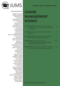 Titel: Junior Management Science, Volume 3, Issue 3, September 2018