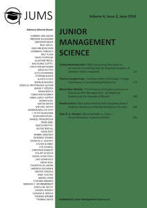 Titel: Junior Management Science, Volume 4, Issue 2, June 2019