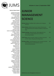 Titel: Junior Management Science, Volume 4, Issue 3, September 2019