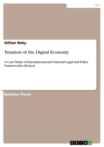 Title: Taxation of the Digital Economy