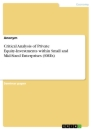Title: Critical Analysis of Private Equity-Investments within Small and Mid-Sized Enterprises (SMEs)