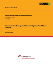 Titel: Modernization Theory and Women's Rights in the African Context