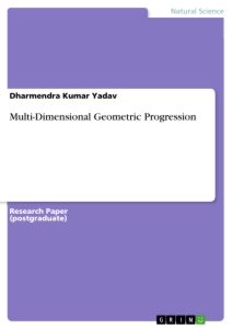 Multi-Dimensional Geometric Progression