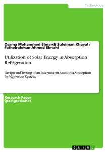 Title: Utilization of Solar Energy in Absorption Refrigeration