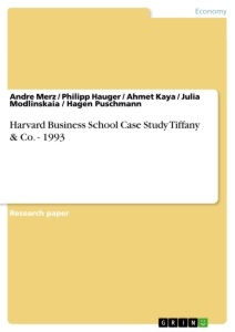 Title: Harvard Business School Case Study Tiffany & Co. - 1993
