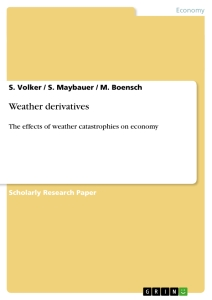 Title: Weather derivatives