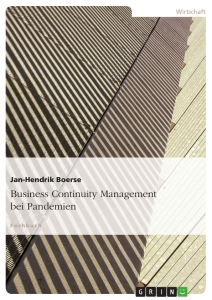 Titel: Business Continuity Management bei Pandemien