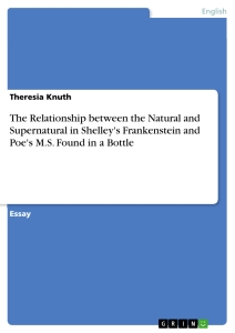 Title: The Relationship between the Natural and Supernatural in Shelley's Frankenstein and Poe's M.S. Found in a Bottle