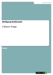 Title: Cabaret Songs