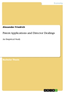 Titel: Patent Applications and Director Dealings