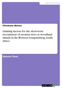 Title: Limiting factors for the short-term recruitment of savanna trees at woodland islands in the Western Soutpansberg, South Africa