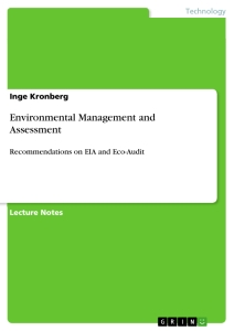 Title: Environmental Management and Assessment